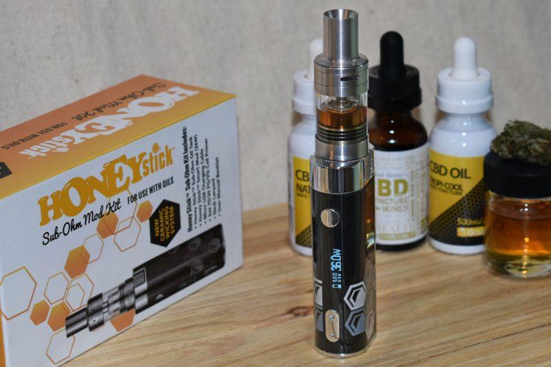 Complete CBD vape pen kit w/ vape tank, mod & charger
