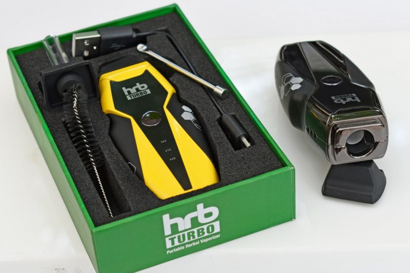 HRB turbo weed vaporizer kit w/ 2nd mouthpiece, dab tool and USB cable